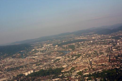 Basel aus der Luft (Foto: Juri Weiss)