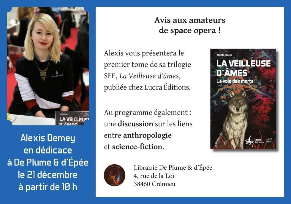 Dédicace d'Alexis Demey pour La Voie des morts le 21 décembre