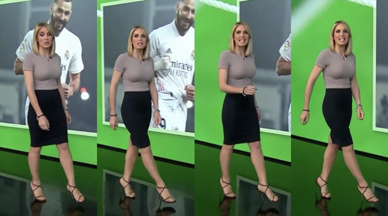 Angie Rigueiro: escotes al desnudo en Antena 3 Noticias