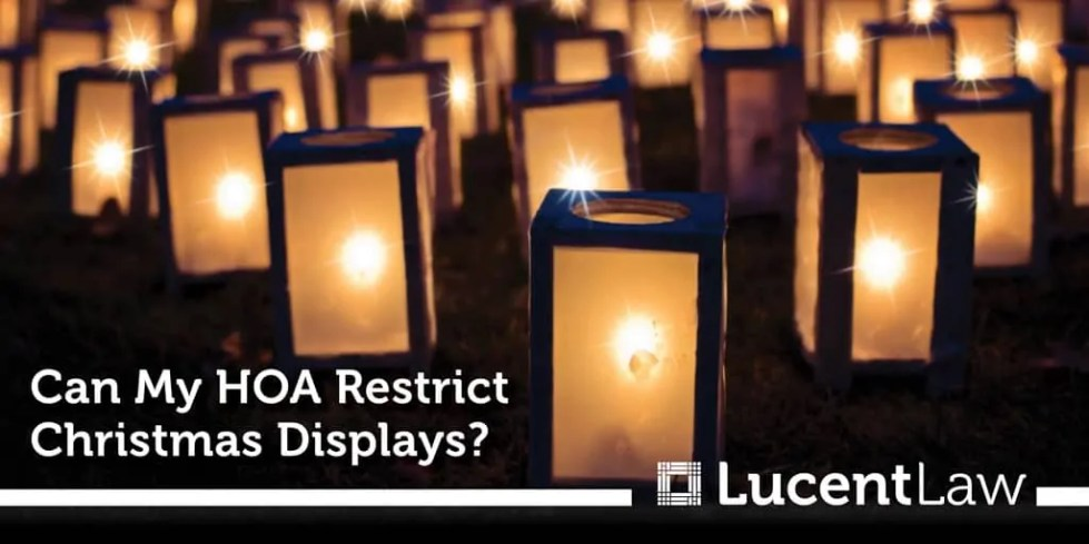 Can My HOA Restrict Christmas Displays?