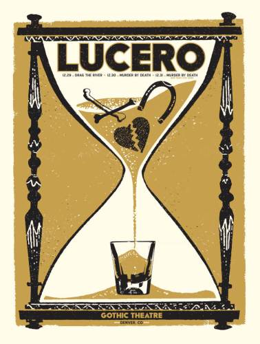 LUCERO NYE Run @ Gothic Theatre 12.29 - w/ Drag the River 12.30 - w/ Murder By Death 12.31 - w/ Murder By Death Lucero fans can buy before the general public on Monday!  12.29- https://lucero.frontgatetickets.com/event/x5jwiryu26st2vdv 12.30- https://lucero.frontgatetickets.com/event/dmeum5cgq0crt8jm 12.31- https://lucero.frontgatetickets.com/event/eqlpa1v1y2ezuj56