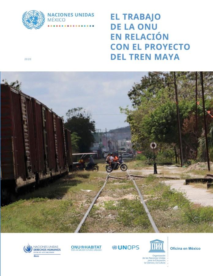 Trabaja ONU de la mano con Tren Maya