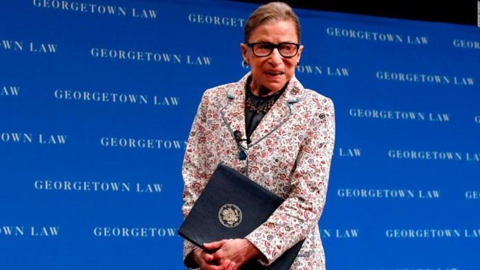 Pone en vilo a EU salud de la jueza Ruth Bader Ginsburg