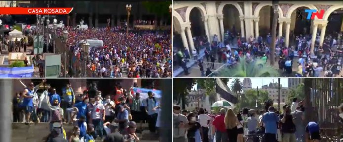 Crean enfrentamientos por velatorio de Maradona