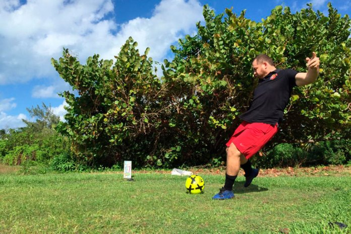 Termina jornada doble de footgolf