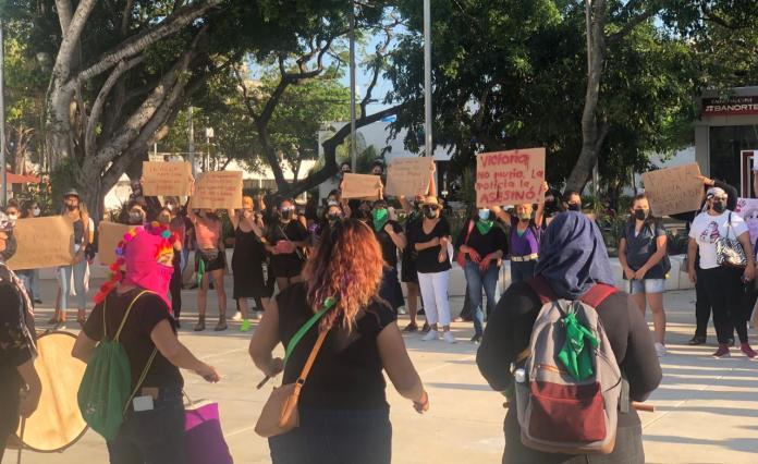 Protestan por feminicidios en Tulum y Holbox