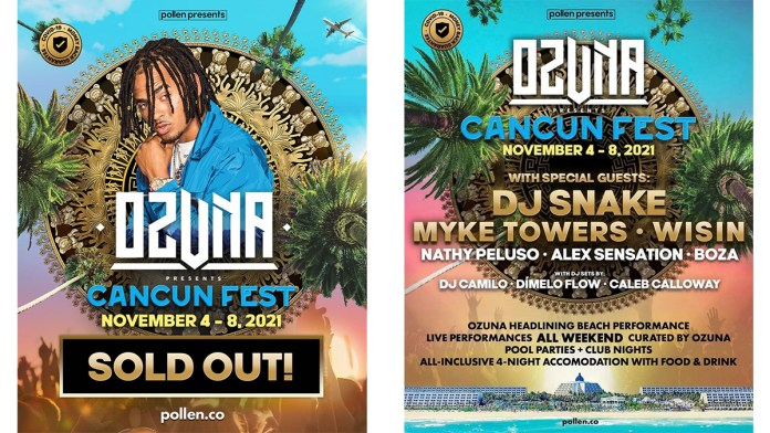 Anuncian el Ozuna Cancún Fest