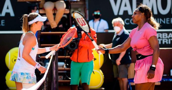 Sorpresa en Roma; vence Podoroska a Serena Williams