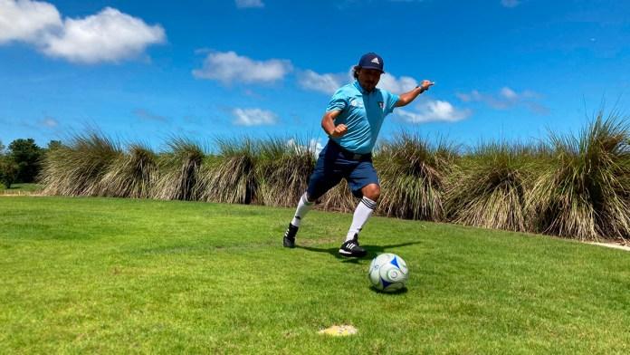 Destaca Topo Moguel en Footgolf