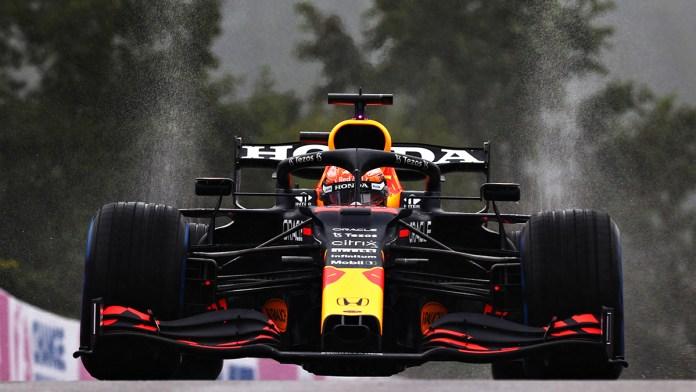 Gana Verstappen GP de Bélgica en una carrera breve