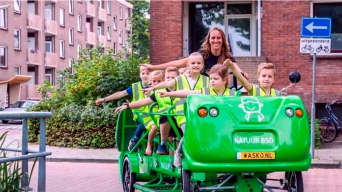 La multibicicleta escolar de Países Bajos