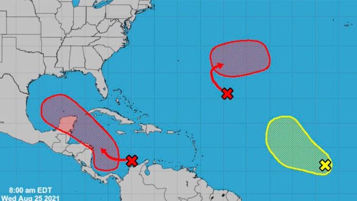 Zonas de baja presión se perfilan para convertirse en tormentas