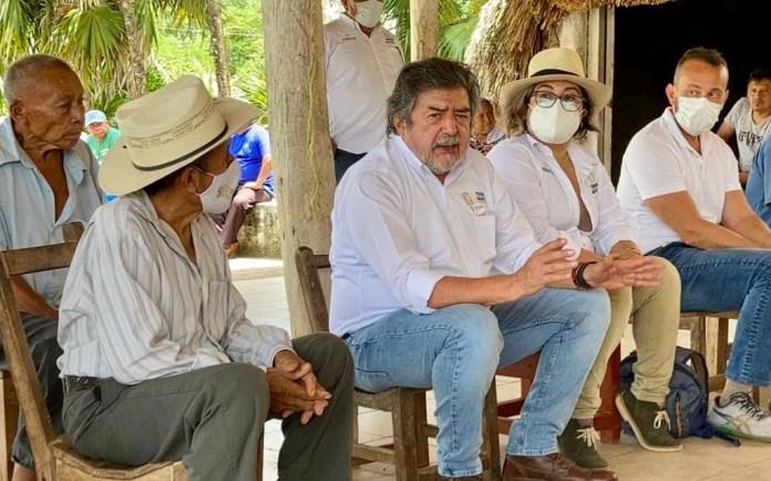 Recorren centro ceremonial maya para evaluar rehabilitación