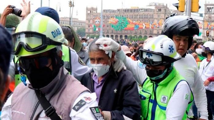 Deja 37 lesionados marcha de mujeres en CDMX