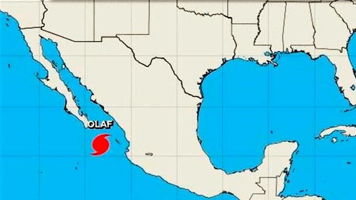 Se convierte 'Olaf' en huracán rumbo a Baja California Sur