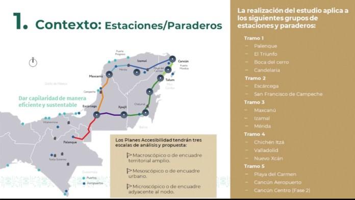 Presentan estudios de accesibilidad y movilidad para estaciones del Tren Maya