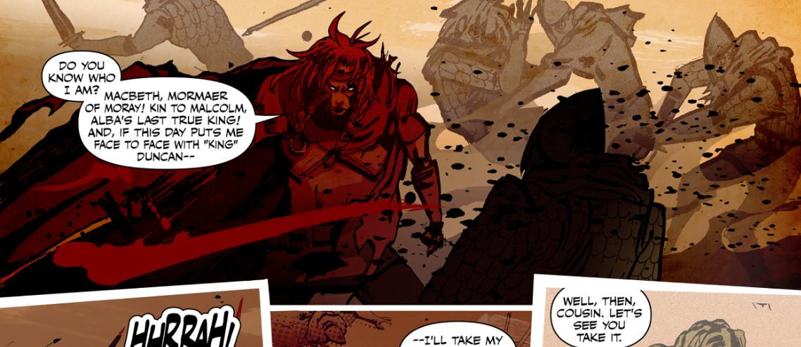 Lucha Comics - Macbeth: The Red King Header