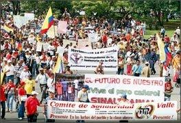 Los trabajadores colombianos levantan la cabeza