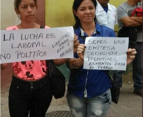 Solidaridad con los trabajadores de Lácteos los Andes