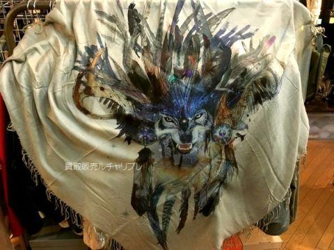 バルマン Men scarf wolf printing/ウルフプリント ストール
