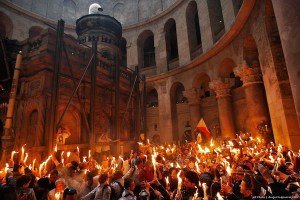 holy fire in Jerusalem