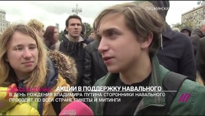 Navalny march participant
