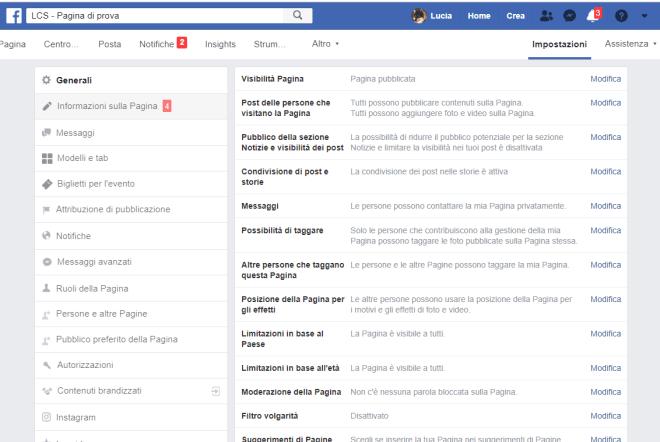 come impostare una pagina Facebook per autori