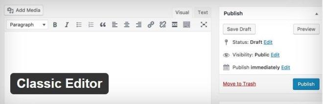 i plugin che non possono mancare - Classic Editor