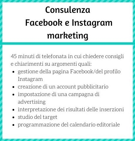 Consulenza Facebook e Instagram Marketing