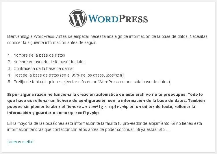 Cómo instalar WordPress paso a paso: Necesitas la información de tu base de datos MySQL