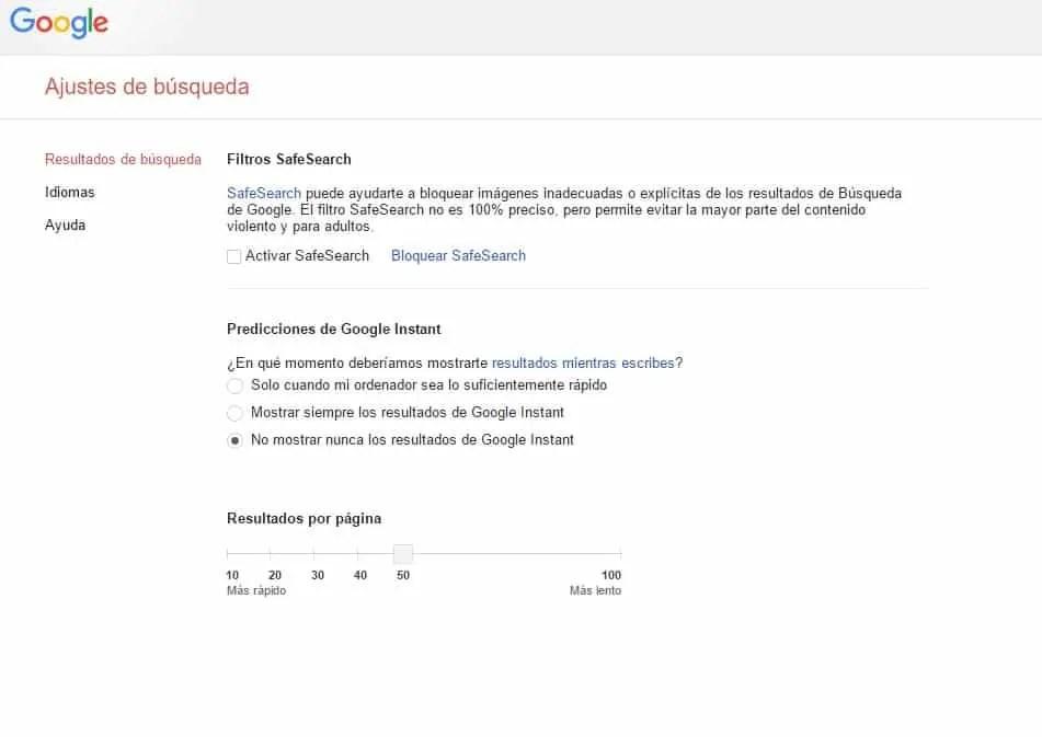 Imagen configuración +resultados de búsqueda