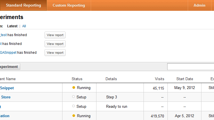 google analytics content experiments gtm