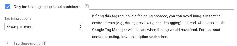 solo-activar-en-contenedores-publicados-tag-manager