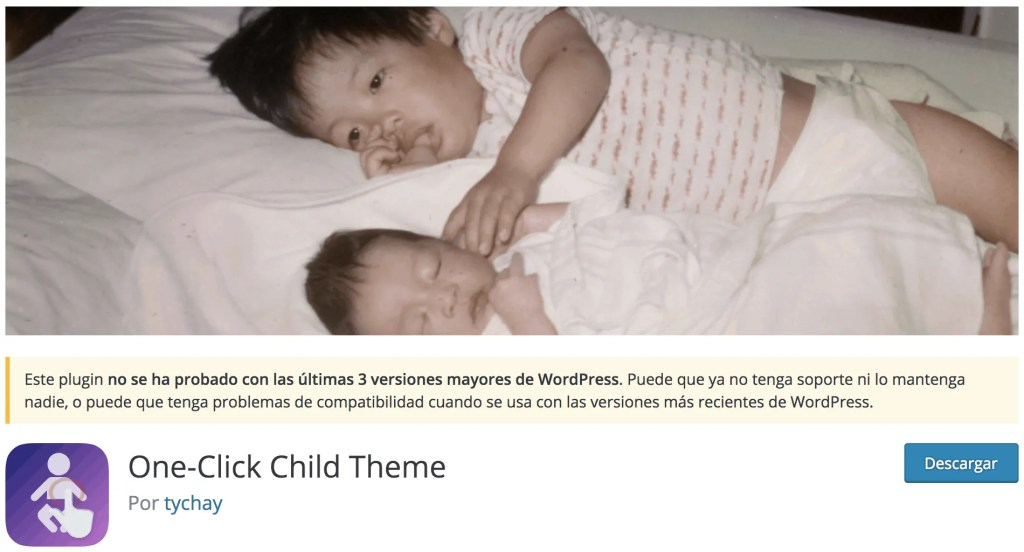 Plugin One-Click Child Theme