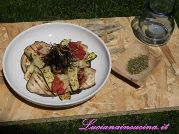 Lasagne di verdure grigliate con erbe di Provenza