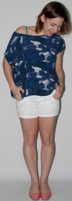 Blog de moda - look do dia: look verão - como usar short, blusa larga urban outfitters, sapatilha maria filo. blog de moda