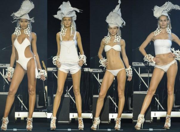 desfile blue man - Elle Summer Preview 2013 - blog de moda