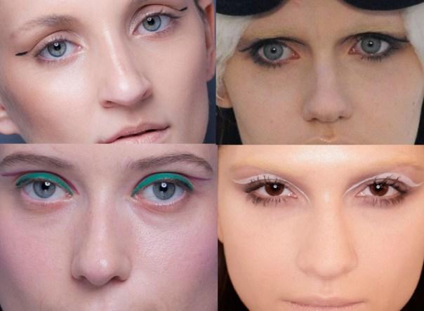 tendências maquiagem inverno 2013 - delineador inusitado - blog