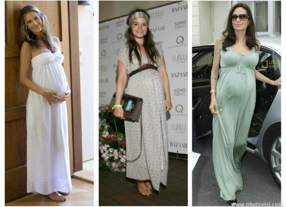 Dicas de moda e looks para gestantes - vestido longo