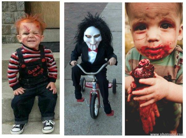 Fantasias de crianças para o Halloween - Personagens de filmes de terror