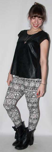 look do dia - look com legging estampada para viajar de aviao - luta do dia - blog de moda 1
