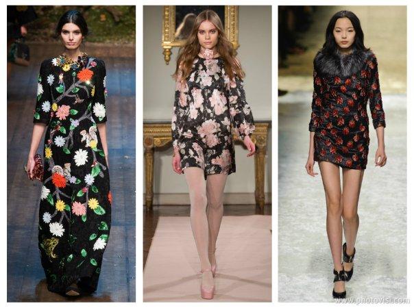 Tendências de moda para o inverno 2014 - roupas outono/inverno - floral