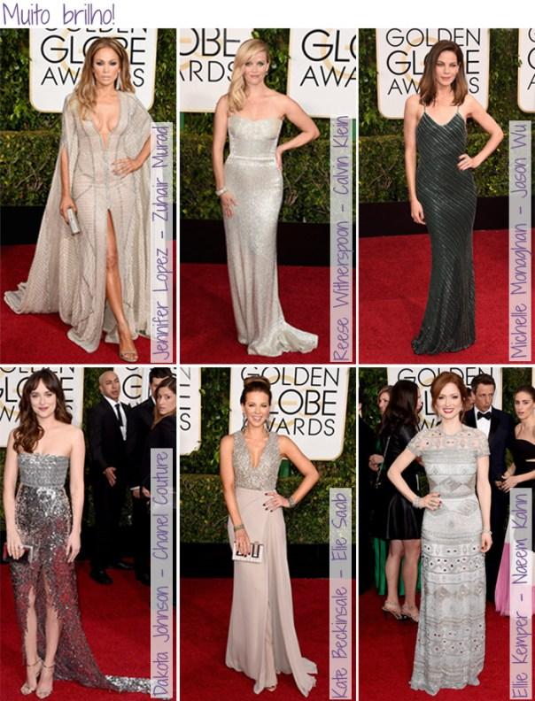 Looks do Red Carpet Golden Globes - Brilho
