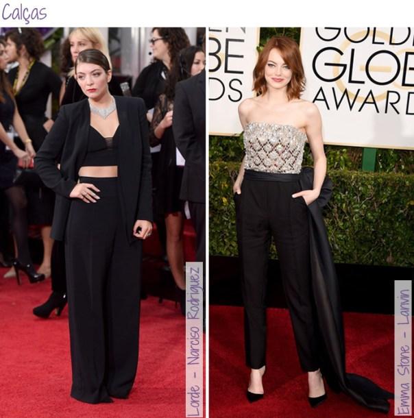 Looks do Red Carpet Golden Globes - Calças