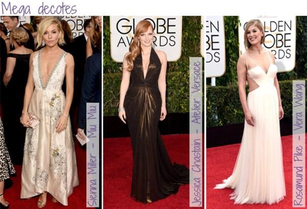Looks do Red Carpet Golden Globes - decotes