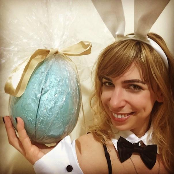 fantasia de coelhinha para a Pascoa