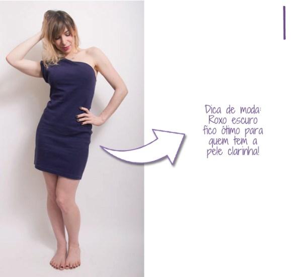 como usar vestido de um ombro 1