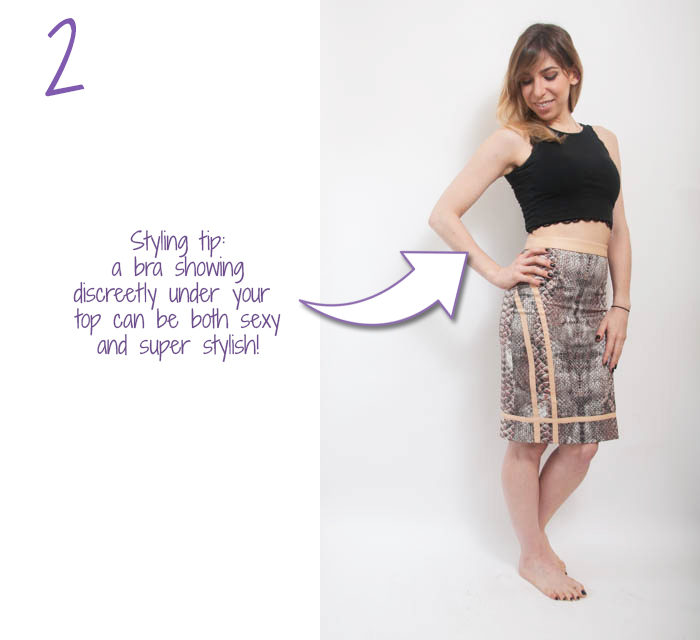 how to wear high waisted pencil skirt 2