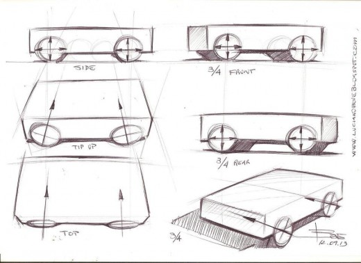 Drawing wheels in perspective. Car sketching tips