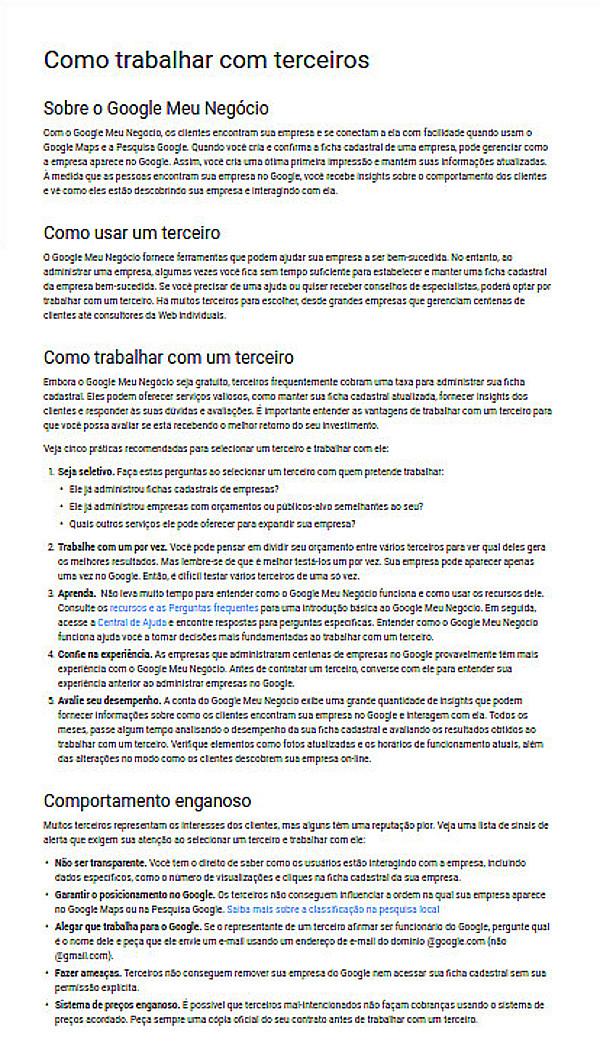 Como Trabalhar com Terceiros no Google Meu Negócio Ajuda Imagem